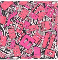 NEO-CIRCUITI-tessuto-Memphis-1988.jpg (1176×1220) - Massimo Giacon