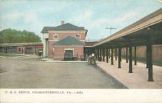 Chesapeake and Ohio Depot from University of Virginia Visual History Collection; Albert and Shirley Small Special Collections Library, University of Virginia.