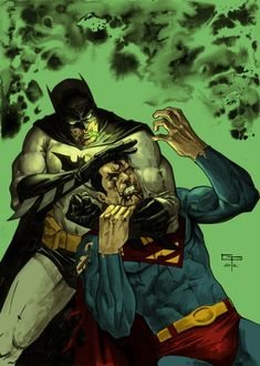 """Batman vs Superman by German Peralta. I don't know why but when I look at this I think """"NOOGIES""""."""