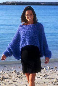 Ravelry: 0-57 Wide sweater with lace pattern pattern by DROPS design