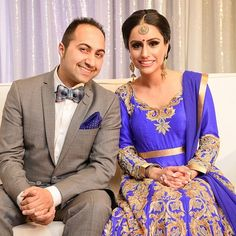 Check out our stunning bride Ravinder Sarai in a custom made wellgroomed outfit! In a stunning royal blue silk, the gold embroidery stands out and DEFINETLY makes her look like the belle of the ball! Hair by Reema Mattu Makeup & Hair. Photography by JD Photos!  Congratulations to Raj and Ravinder on their engagement!