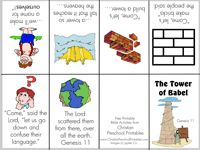 Tower of Babel mini-book at Christian Preschool Printables.