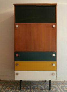 secrétaire tricolore Decoration, Ikea, Interiors, Cabinet, Living Room, Storage, Furniture, Home Decor, Apartments
