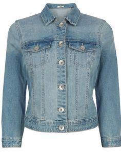 Sienna cropped denim jacket, £42.00 Oasis oasis-stores.com