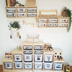 ikea playroom A place for everything . Re-gram via thelifeof_sjh . Kids Playroom Storage, Ikea Playroom, Ikea Toy Storage, Ikea Kids Room, Playroom Organization, Playroom Design, Kids Room Design, Kids Bedroom, Baby Toy Storage