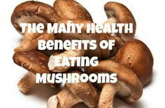 The Many Health Benefits of Eating Mushrooms