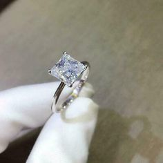 Timeless Engagement Ring, Square Engagement Rings, Princess Cut Engagement Rings, Solitaire Engagement, Wedding Jewelry, Wedding Rings, Gold For Sale, Princess Cut Diamonds, Dear Future