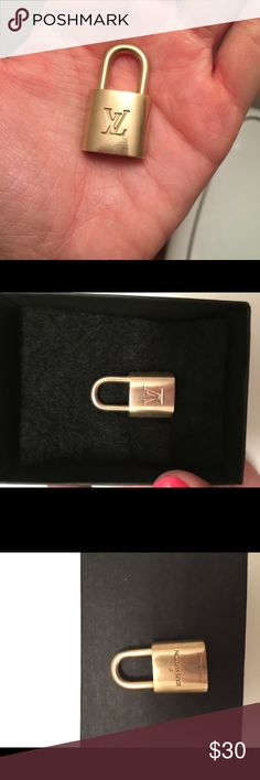 Authentic Louis Vuitton lock #323 Beautiful and 100% authentic Louis Vuitton lock with NO key hence the lower price. Just polished it up so it's ready for its new home. Will be sending it in a box and bubble wrap so it'll be secure. I will leave it unlocked so the buyer can use for their purse. #323. Price is firm thank you. Have a blessed day 😊 Louis Vuitton Accessories
