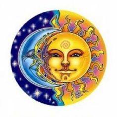 Adhesivo para ventana Sol y Luna 10,5 cm