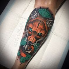 Unique dog tattoo Animals is part of Unique Animal Tattoo Designs Doozy List - mattcurzontattoo Zorro Tattoo, Fox Tattoo, Calf Tattoo, Tattoo Art, Bastet Tattoo, Unique Animal Tattoos, Mangas Tattoo, Fuchs Tattoo, Lantern Tattoo