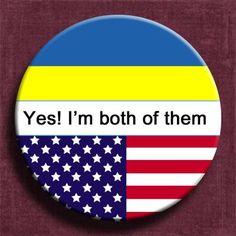 "2.25"" button pin,ukraine flag,usa flag,citizenship ceremony,usa citizenship,dual citizenship"