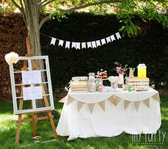 Mesa de dulces rustica Tea Party Birthday, I Party, Happy Birthday, Diy And Crafts, Crafts For Kids, Bridal Shower, Baby Shower, Flower Crown Wedding, Tv Decor