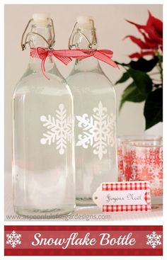 Snowflake Bottle | A Spoonful of Sugar
