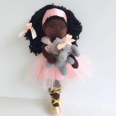 Amigurumi doll and crochet elephant