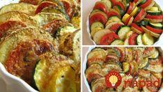 Pečená zelenina s parmezánom a olivovým olejom Low Carb Recipes, Diet Recipes, Cooking Recipes, Diet Food List, Food Lists, 8x8 Pan, Military Diet, Ratatouille, Pesto