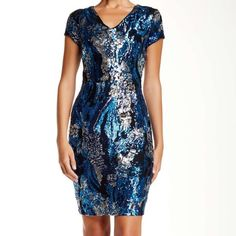 New ❤️ Alexia Admor Cap Sleeve Sequin Midi Dress! Brand new Alexia Admor cap sleeve sequin dress. Never worn, new with tags. Sequin that sparkles across the room with a special pattern. Zipper back for a more luxurious look. Alexia Admor Dresses Mini