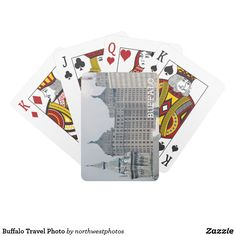 Buffalo Travel Photo Playing Cards