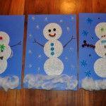 Cotton Rounds Snowman