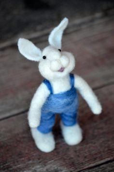 wool Bunny Rabbit needle felted by BearCreekDesign