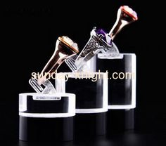 Custom clear acrylic plastic display stands display retail jewellry stand JDK-121