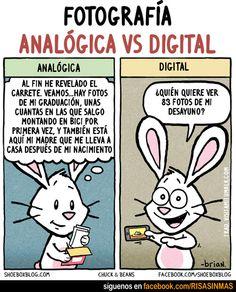 Fotografía analógica vs Fotografía digital.