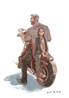 Logan y X-23 (Laura)