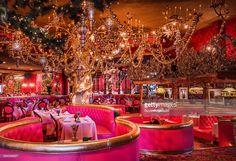Dining room at the landmark Madonna Inn in San Luis Obispo, California, 2013.