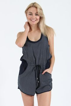 More casual than your BF's approach to your relationship (gosh darnit), the Ace Jumpsuit from All About Eve is perfect weekend attire - especially if it's a summer's weekend. Short and sporty, it boasts a drawstring waist and comfy side pockets, as well as a navy print and contrast patches.