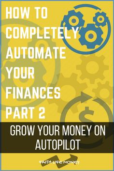 Can you really GROW you money on autopilot? Is it even possible? Oh it is my friends, and I've done it. In Part 2 of our brand new series I'm going to show you how to do it as well. This is how to put your money to work for you, instead of you working for your money. (Again, you've never heard this strategy before) Get it here: http://faithlifemoney.org/how-to-completely-automate-your-finances-part-2-investing-made-easy/