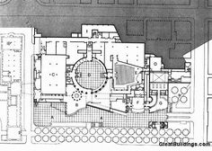 Image 13 of 14 from gallery of AD Classics: Neue Staatsgalerie / James Stirling. Architecture Plan, Landscape Architecture, James Frazer, James Stirling, Composition Design, Site Plans, Courtyard House, Facade Design, Master Plan
