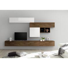 Lcd Panel Design, Tv Wand, Modern Tv Wall, Living Room Tv, Scandinavian Style, Floating Shelves, Infinity, The Unit, Furniture