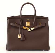 HERMES BIRKIN 35 Bag Cacao gold hardware
