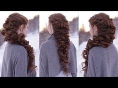 Mermaid Curly Hairstyle How To - YouTube