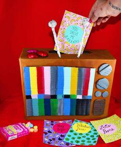 Retro TV Kid's Classroom Valentine's Box