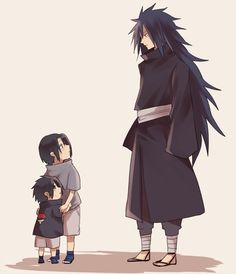 Inspiring image fan art, madara uchiha, sasuke uchiha, anime naruto, anime boys by sarahswlon - Resolution - Find the image to your taste Madara Uchiha, Naruto Shippuden Sasuke, Naruto And Sasuke, Naruto Cute, Sakura And Sasuke, Kakashi, Boruto, Sasunaru, Baby Sasuke