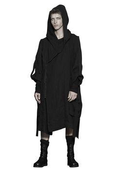 Shop Sustainable Luxury Avant-garde Fashion Designer Barbara I Gongini SS18 Men's Long Linen Hooded Jacket at Erebus