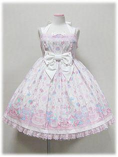 Angelic Pretty - Memorial Cake Halterneck JSK /// ¥26,040 /// Bust: 86~102cm Waist: 74~97cm Length: 81cm + 5cm lace