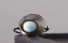 925シルバー natural   turquoise Ring(Etsy のmikaincより) https://www.etsy.com/jp/listing/573505486/925shirub-natural-turquoise-ring