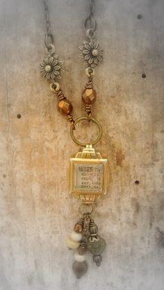 Vintage watch case repurposed necklace