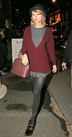 Taylor Swift is a Maroon Cutie: http://rstyle.me/~2OMTG