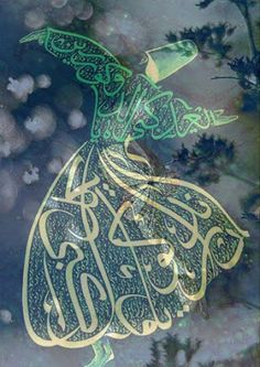 I tasted your sweetness and everything stopped ~ Bewildered, I fled to the house of my heart and there, you caught me ~❤️~ Rumi Persian Calligraphy, Islamic Art Calligraphy, Caligraphy, Art Beauté, Jalaluddin Rumi, Whirling Dervish, Turkish Art, Rumi Quotes, Illustrations
