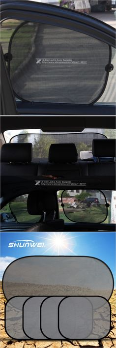 5 Pcs/Set Black Auto Sun Visor Car Sun Shade Car Window Suction Cup Car Curtain Auto Sun Shade Car Styling Covers Sunshade
