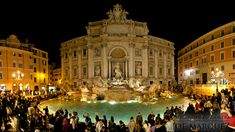 Trevi Fountain at Night (from Joe Marquez) Places To See, Places Ive Been, Trevi Fountain, Smoking, Louvre, Night, Building, Travel, Fun Facts
