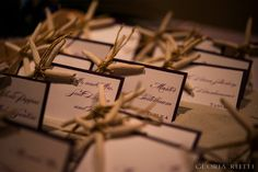 Starfish escort cards by It's My Party. Image by Gloria Ruth Photography
