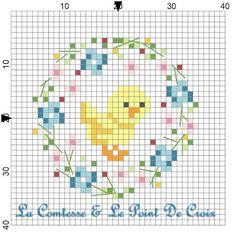 La Comtesse & Le Point De Croix: Pulcino mignon...free