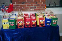 Sesame Street Birthday Party - DIY Gift Bag Idea