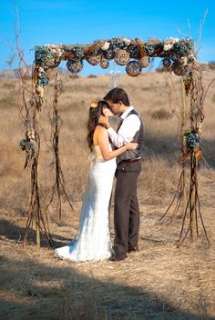 15 Cool Wedding Chuppah Ideas, A Chuppah is a canopy under which a Jewish couple will stand during their wedding ceremony. It's usually made of a cloth/sheet and supported by 4 pole. Vintage Stil, Style Vintage, Wedding Chuppah, Wedding Ceremony, Ceremony Arch, Rustic Wedding Inspiration, Wedding Ideas, Wedding Details, Wedding Decorations