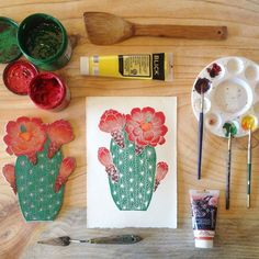 """Peeling up some more """"Protea Susara"""" prints today  Playing catch up for the rest of the week; hope to have all your favorites stocked up by the weekend!"""