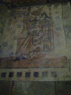 Recuperación do Papa Pío. 1ª pintura restaurada #pinturasdemoraime #Moraime
