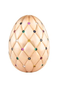 Fabergé, Diamond Jubilee Rose Gold Egg - The prize for their Fabergé Big Egg Hunt.  The super egg is made from 500 grams of rose gold with 60 gemstones – one for each of HM The Queen's reign – set in the pleats of the quilted surface (comprising of diamonds, emeralds, rubies and sapphires – the whole thing worth a whopping £100,000).